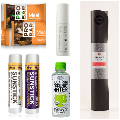 PROBAR | Intelligent Nutrients Hand Sanitizer|Harmless Harvest Coconut Water| Elemental Herbs | The Mat