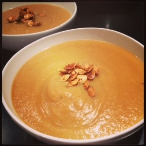 Squash Apple Soup on The Organic Beauty