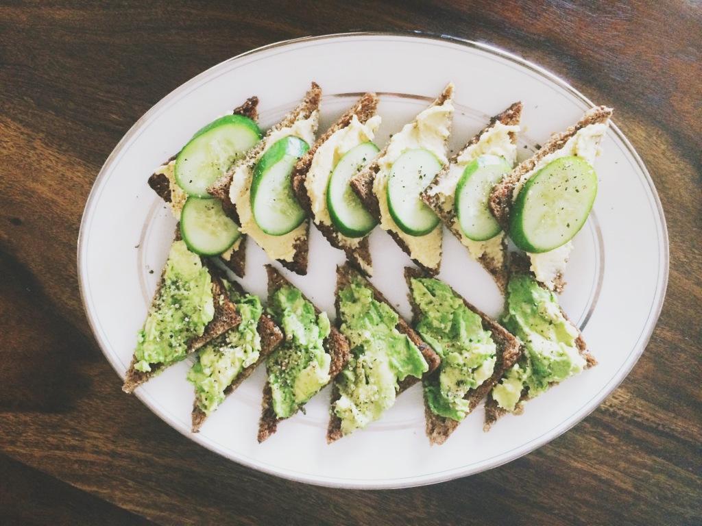 Healthy Rye Tea Sandwiches