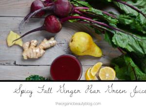 Organic-Beauty-ginger-pear-green-juice