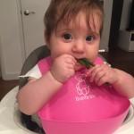 loving her green beans!