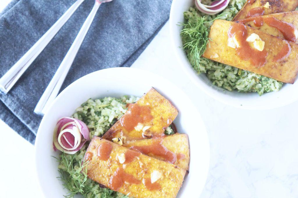 Kale Pesto Rice Bowls
