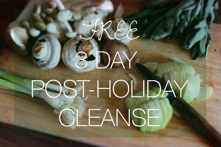 Free 3-Day Post-Holiday Cleanse