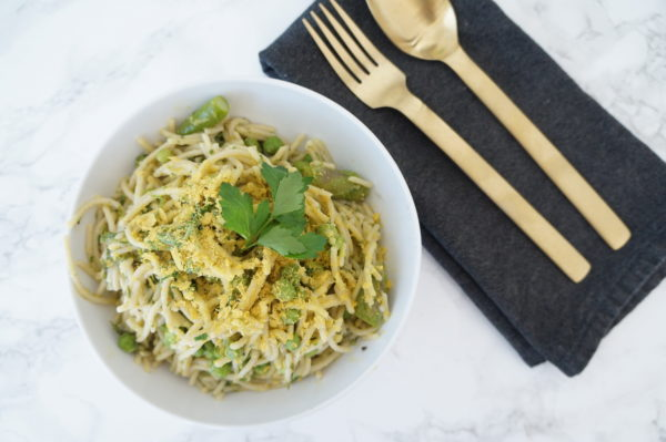 Spring Pasta with Peas, Asparagus, and Kale | The Organic Beauty Blog